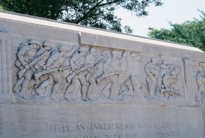 Winnetka war memorial carvings
